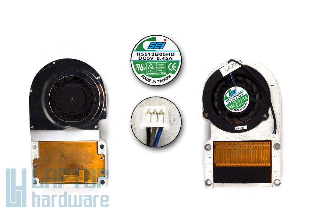 Fujitsu-Siemens Amilo A1650, A1650G használt komplett laptop hűtő ventilátor (H5513B05HD)