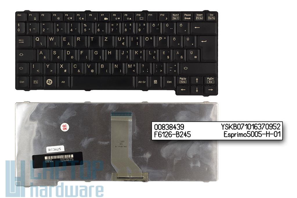 Fujitsu-Siemens Amilo A1650, M7400, Amilo Pro V2000, V3405, V8210 használt magyar fekete laptop billentyűzet (F6126-B245)