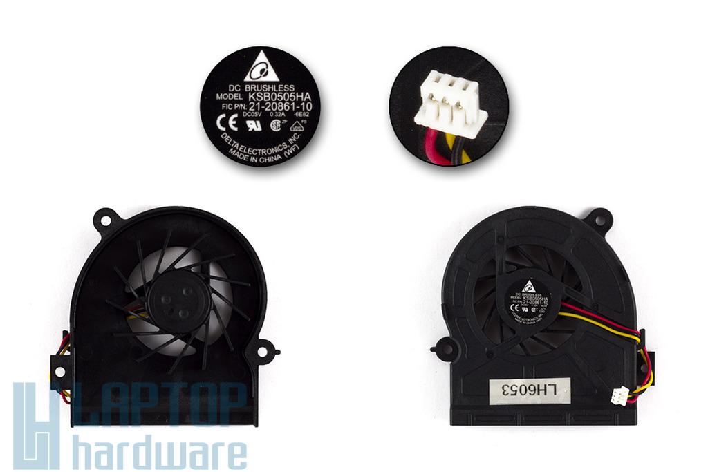 Fujitsu-Siemens Amilo A1655, A1655G, Pa1538, Xa1526 gyári új laptop hűtő ventilátor (KSB0505HA)
