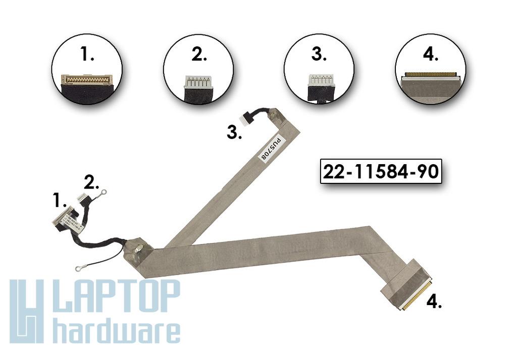 Fujitsu - Siemens Amilo A1655G laptophoz használt LCD kábel, 22-11584-90