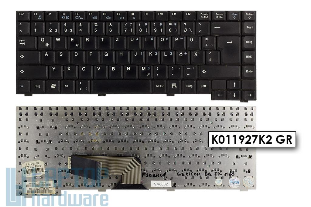 Fujitsu-Siemens Amilo A7600,  D7830, L6820, L6825 használt német laptop billentyűzet (K011927K2 GR,KO11727N1 GR)