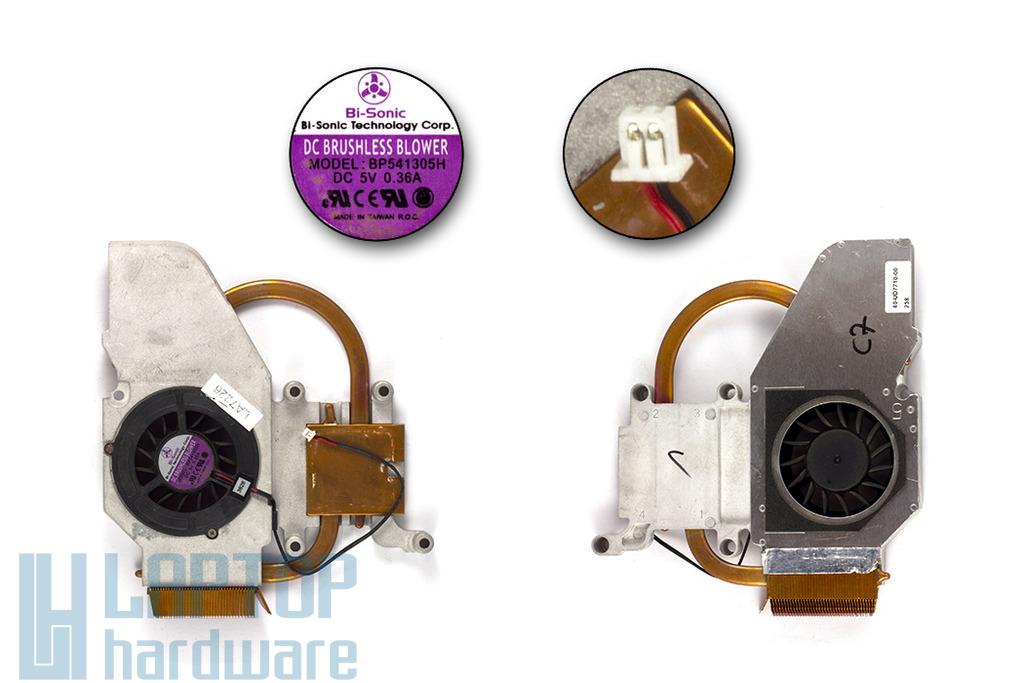Fujitsu-Siemens Amilo D1840, D1845 használt komplett laptop hűtő ventilátor egység (40-UD7710-00)