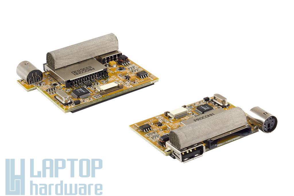 Fujitsu-Siemens Amilo D7830, A7620 laptophoz használt USB, S-video, kártyaolvasó panel (UN16755M)