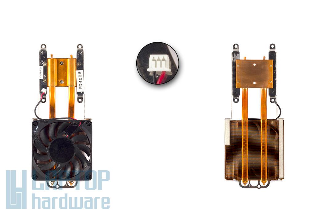 Fujitsu-Siemens Amilo D7830, D7850 használt komplett laptop hűtő ventilátor egység, 40-UD4710-10