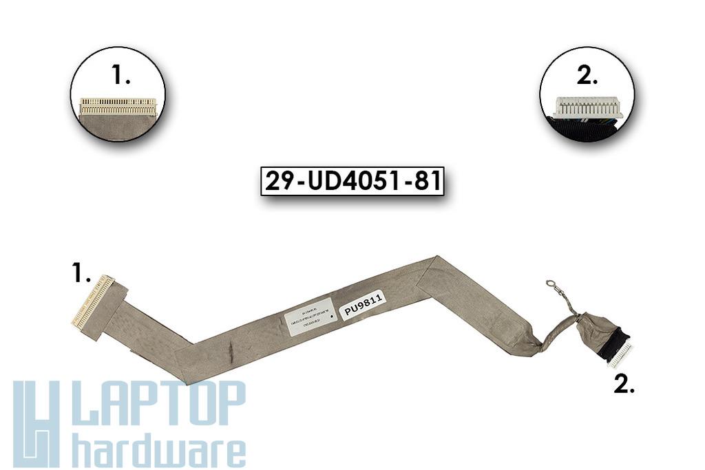 Fujitsu-Siemens Amilo D7830, L6820, L6825 laptophoz használt LCD kábel, 29-UD4051-81