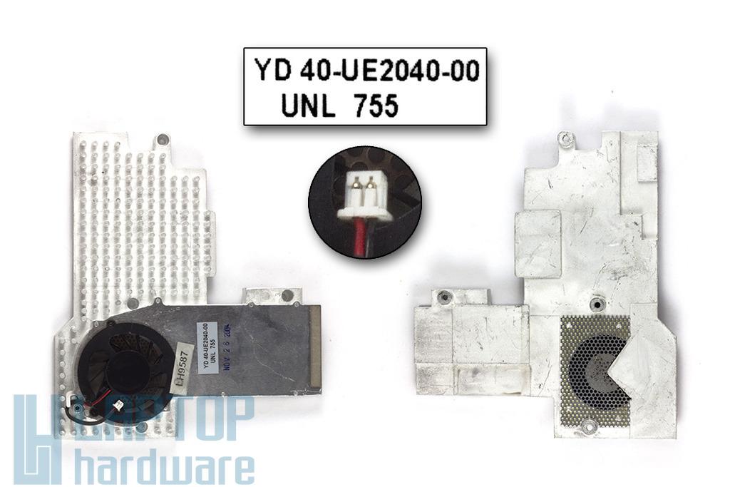 Fujitsu-Siemens Amilo D7850, Packard Bell EasyNote H5 használt komplett laptop hűtő ventilátor egység (40-UD4711-00)
