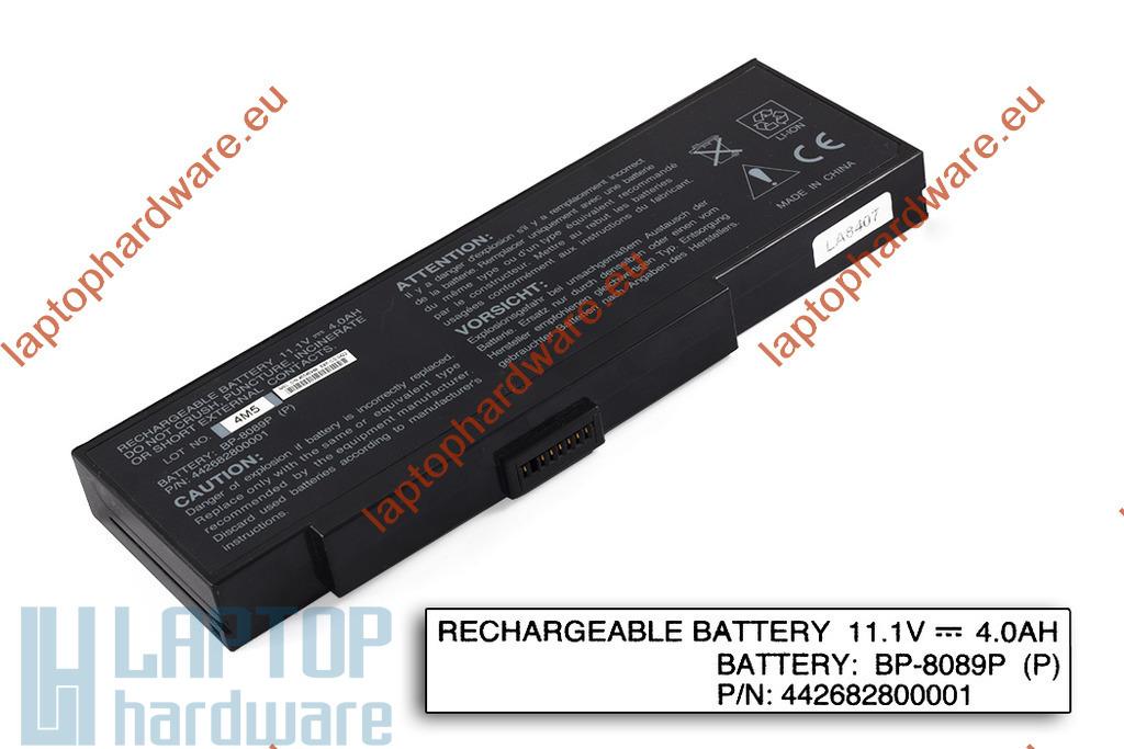 Fujitsu-Siemens Amilo K7600, K7610, Packard Bell EasyNote E1 használt, 6 cellás 80%-os laptop akku/akkumulátor (BP-8089X, BP-8089P)