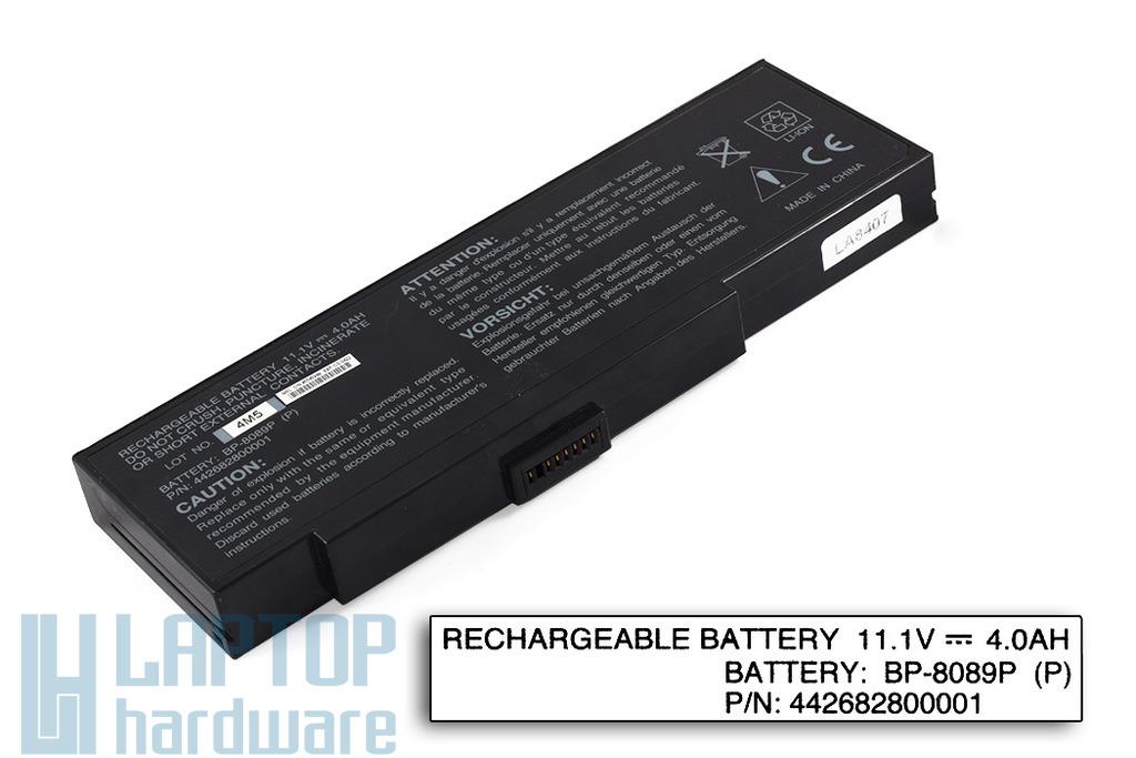 Fujitsu-Siemens Amilo K7600, K7610, Packard Bell EasyNote E1 használt, 6 cellás 90%-os laptop akku/akkumulátor (BP-8089X)