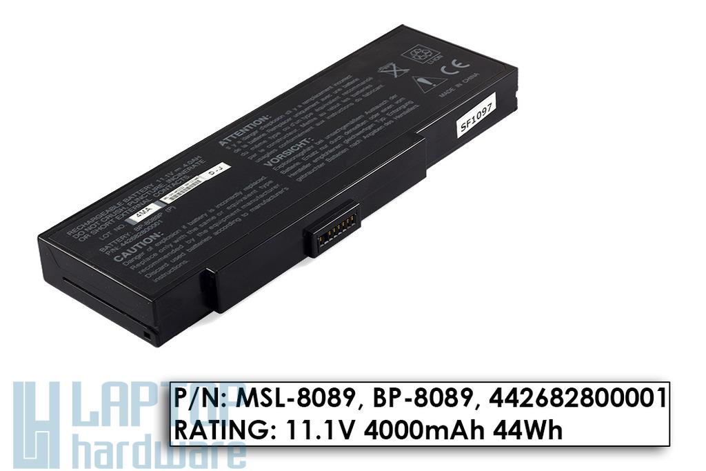 Fujitsu-Siemens Amilo K7600, K7610, Packard Bell EasyNote E1 használt, 6 cellás 95%-os laptop akku/akkumulátor (BP-8089P)