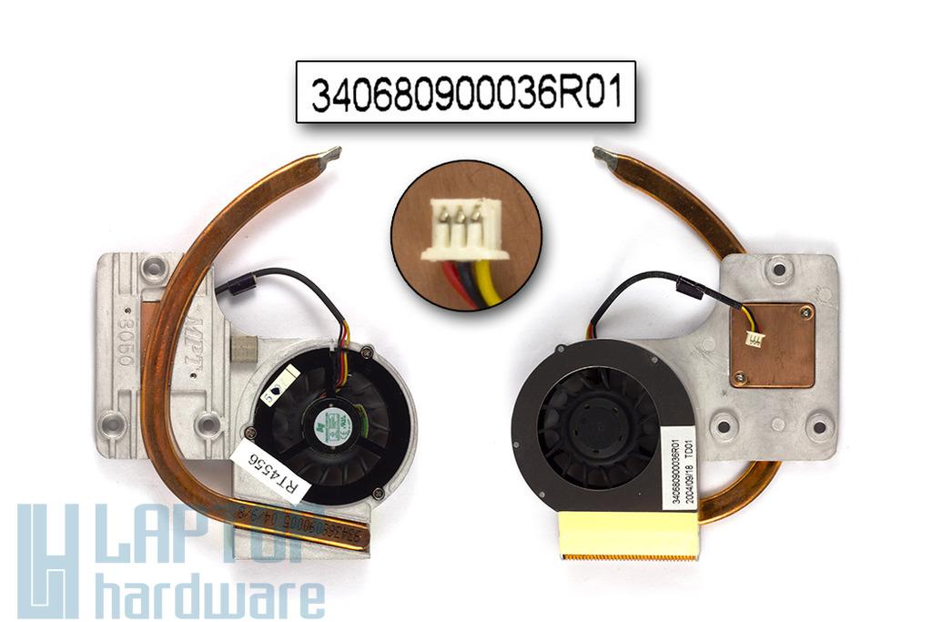 Fujitsu-Siemens Amilo L1300, L7310 használt komplett laptop hűtő ventilátor egység (340680900036R00)