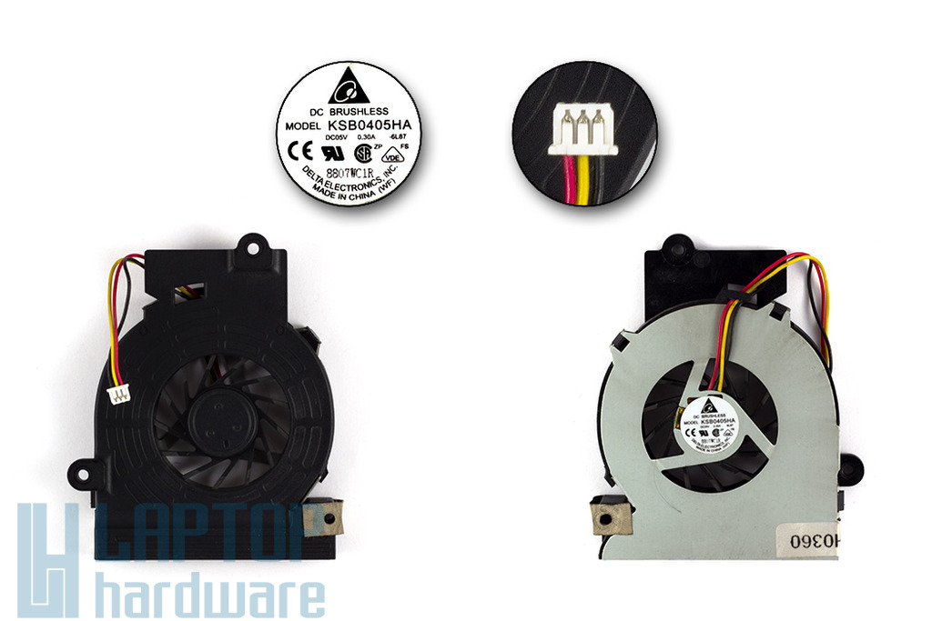 Fujitsu-Siemens Amilo L1310G, L7320GW, Li1705 használt laptop hűtő ventilátor, KSB0405HA