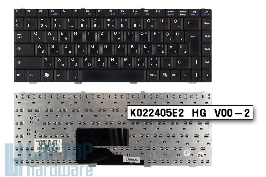 Fujitsu-Siemens Amilo L1310G, Pa1538, Pro V2030 használt magyar fekete laptop billentyűzet (K022405EA HG)