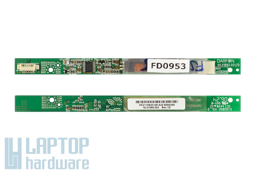 Fujitsu-Siemens Amilo L1310G,Pro V2030,V2035 laptophoz használt LCD Inverter(19.21066.002)