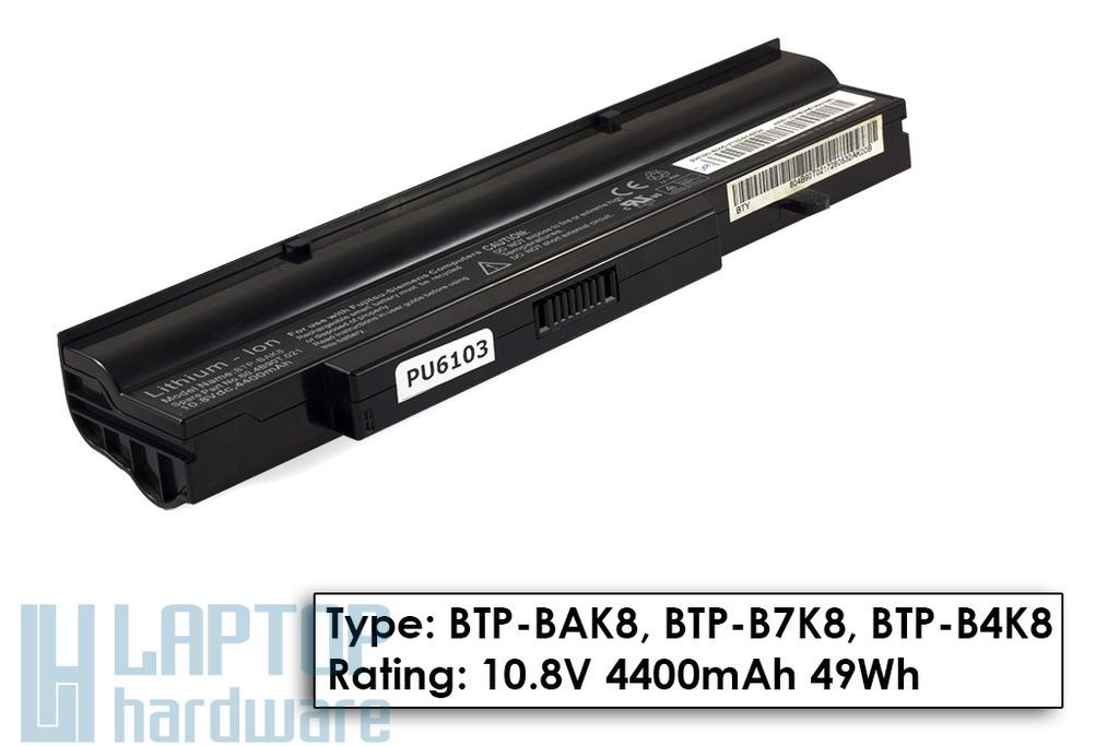 Fujitsu-Siemens Amilo Li1718, Li1720, Esprimo V5505 használt 50%-os laptop akkumulátor, BTP-BAK8