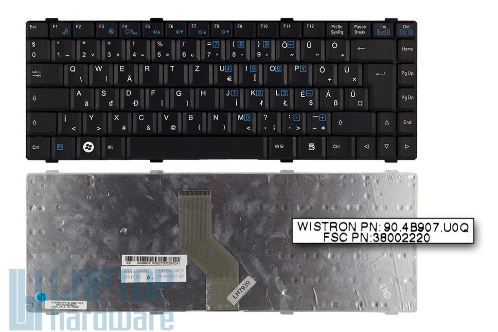 Fujitsu-Siemens Amilo Li1718, Li1720, Li2727 gyári új magyar laptop billentyűzet (K020630B2)