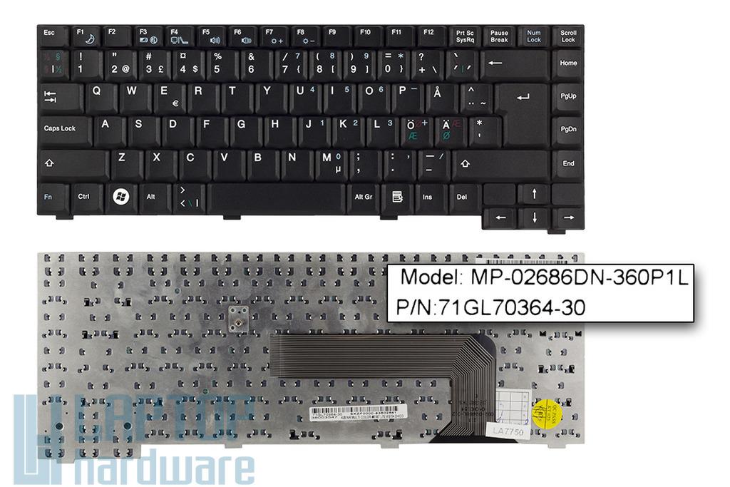 Fujitsu-Siemens Amilo Li1818, Li1820 gyári új norvég laptop billentyűzet (MP-02686DN-360P1L)