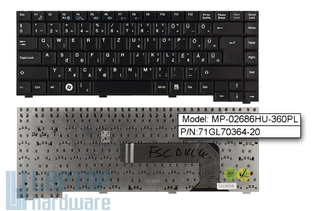 Fujitsu-Siemens Amilo Li1818, Li1820 használt magyar laptop billentyűzet (MP-02686HU-360PL)