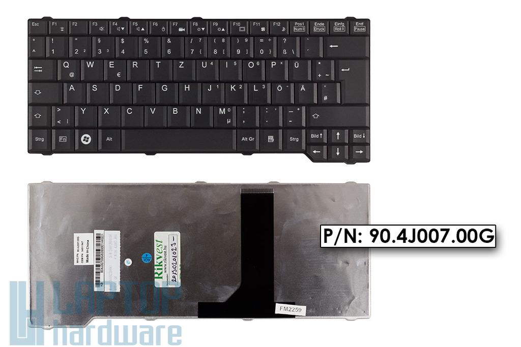 Fujitsu-Siemens Amilo Li3710, Pa3515, Pa3553 gyári új német fekete laptop billentyűzet, 90.4J007.00G, 34011947