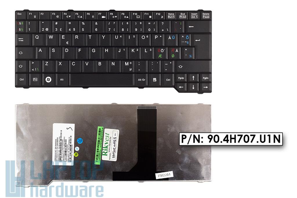 Fujitsu-Siemens Amilo Li3710, Pa3515, Pa3553 gyári új norvég fekete laptop billentyűzet, 90.4H707.U1N, 71GF50582-10