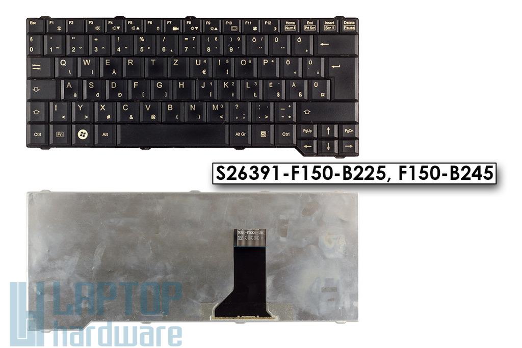 Fujitsu-Siemens Amilo Li3710, Pa3515, Pi3560 használt magyar fekete laptop billentyűzet (S26391-F150-B225)