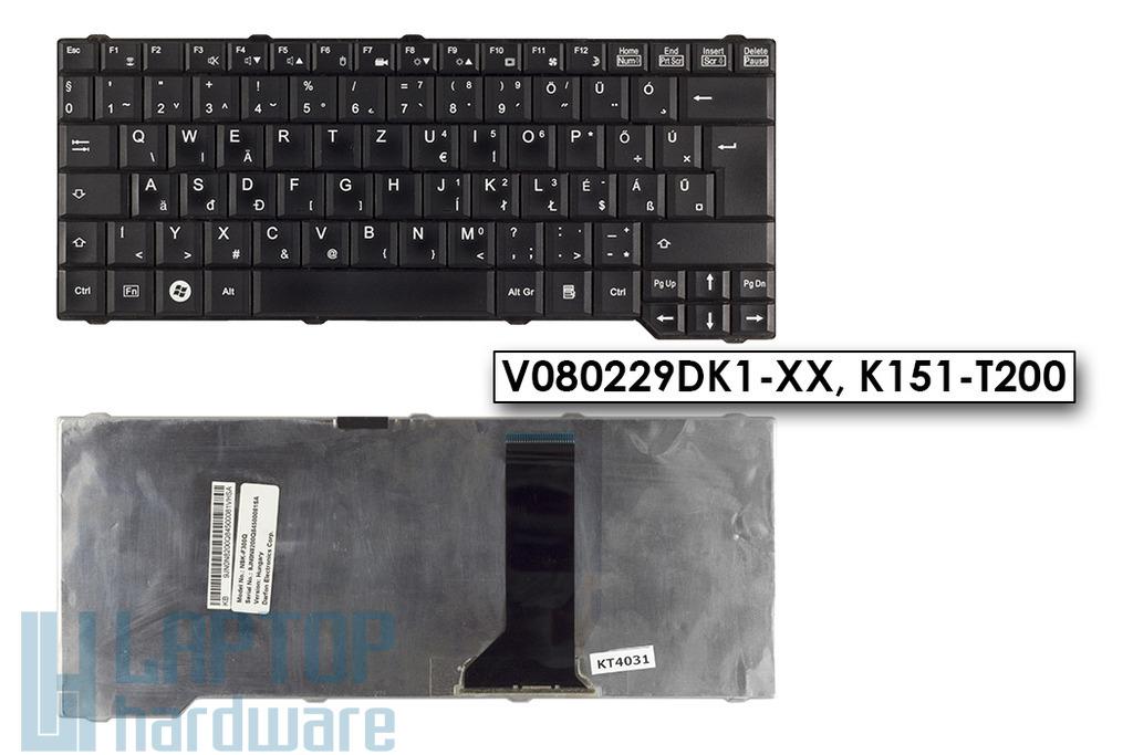 Fujitsu-Siemens Amilo Li3710, Pa3515, Pi3560 használt magyar fekete laptop billentyűzet (V080229DK1-XX)