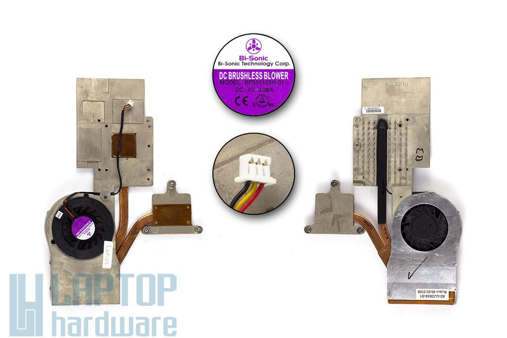 Fujitsu-Siemens Amilo M1437G, M1439G, Pi1536, Pi1556 használt laptop hűtő ventilátor (40-UJ3040-01)