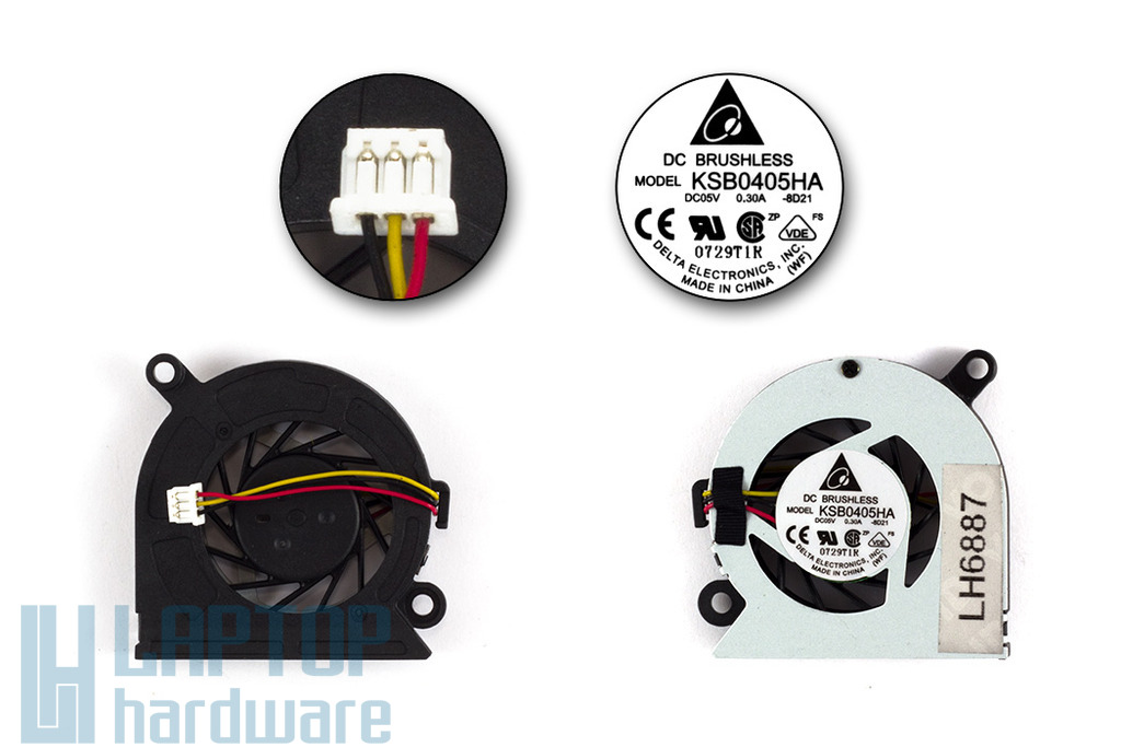 Fujitsu-Siemens Amilo mini ui3520 gyári új laptop hűtő ventilátor (KSB0405HA)