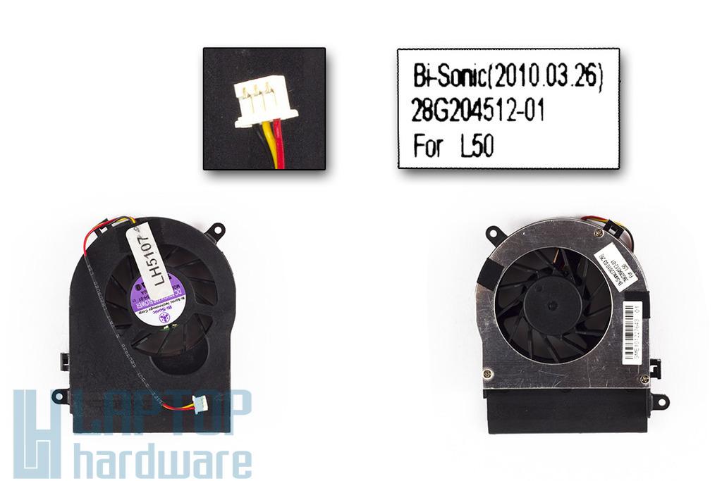Fujitsu-Siemens Amilo Pa1510, Pa2510, Pi1505, Li1818, Li1820 gyári új laptop hűtő ventilátor (28G204512-01)