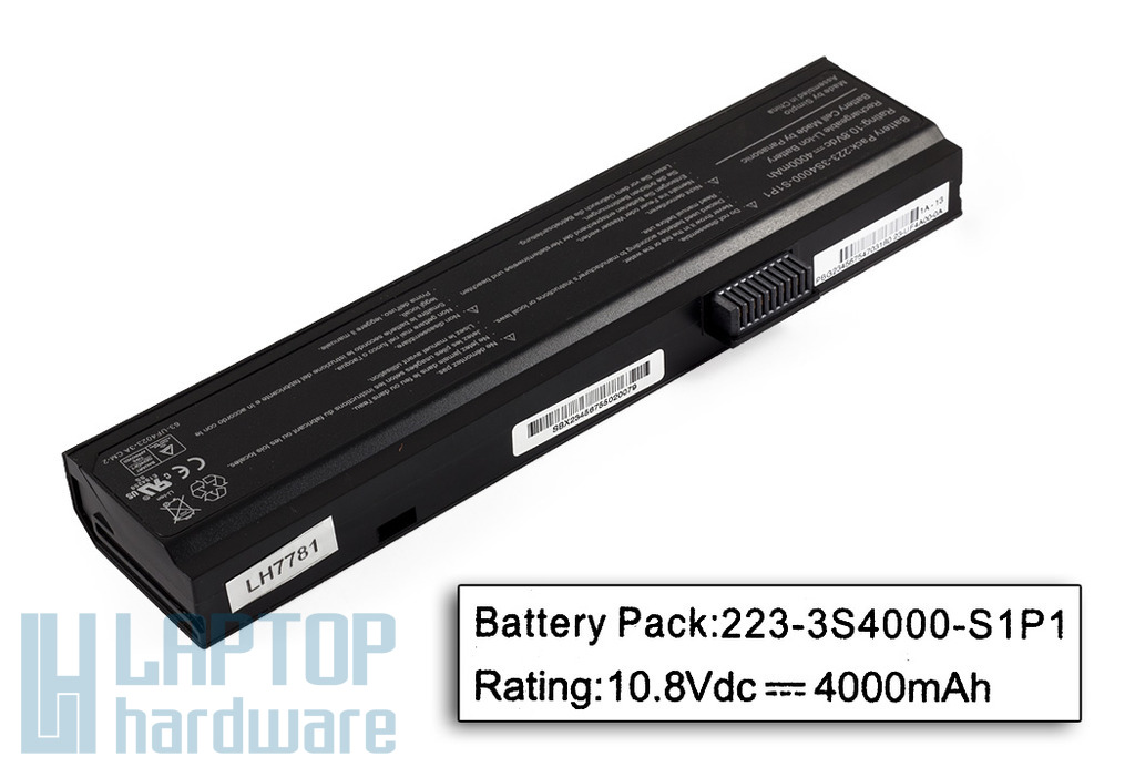 Fujitsu-Siemens Amilo PA1510, PI2510, LI1818 gyári új 6 cellás laptop akku/akkumulátor (223-3S4000-S1P1)