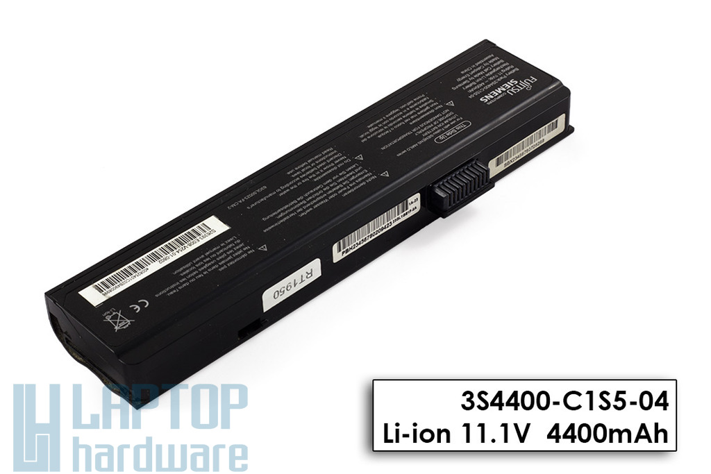 Fujitsu-Siemens Amilo Pa1510, Pi2510, Li1818 használt 6 cellás 50%-os laptop akku/akkumulátor (3S4400-C1S5-04)