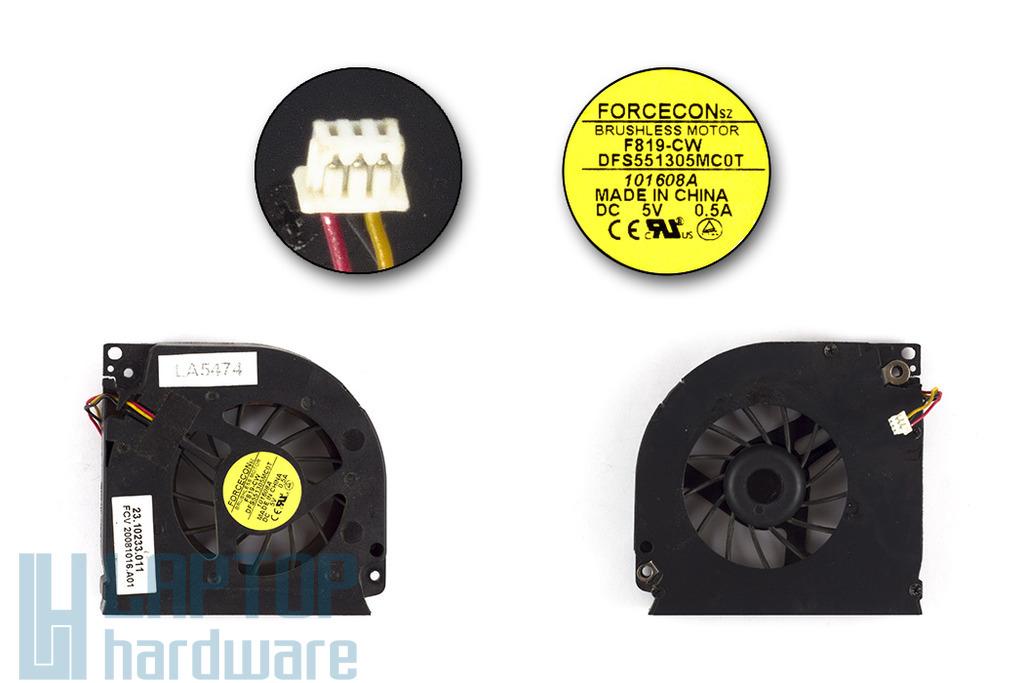 Fujitsu-Siemens Amilo Pa3515, Pa3553 használt laptop hűtő ventilátor (23.10233.011)