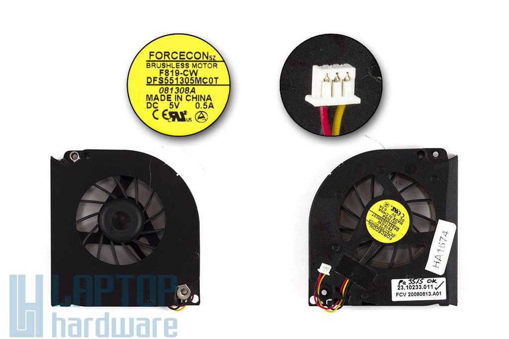 Fujitsu-Siemens Amilo Pa3515, Pa3553 használt laptop hűtő ventilátor (DFS551305MC0T)