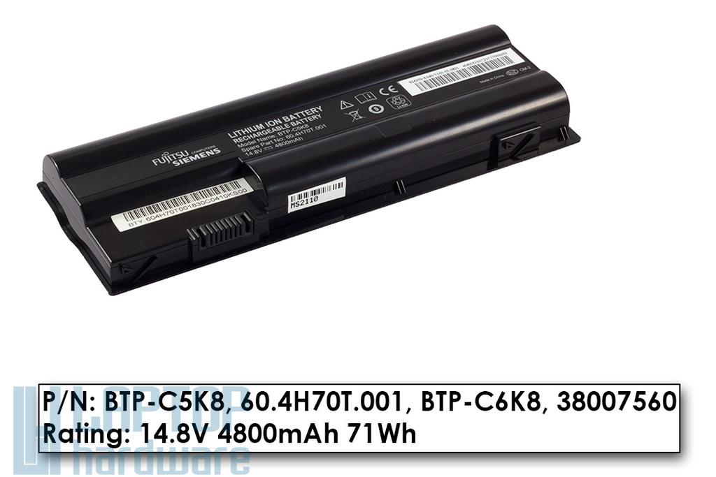 Fujitsu-Siemens Amilo Pa3515, Pa3553, Xa3530 használt 8 cellás 70%-os gyári laptop akku/akkumulátor (BTP-C5K8)