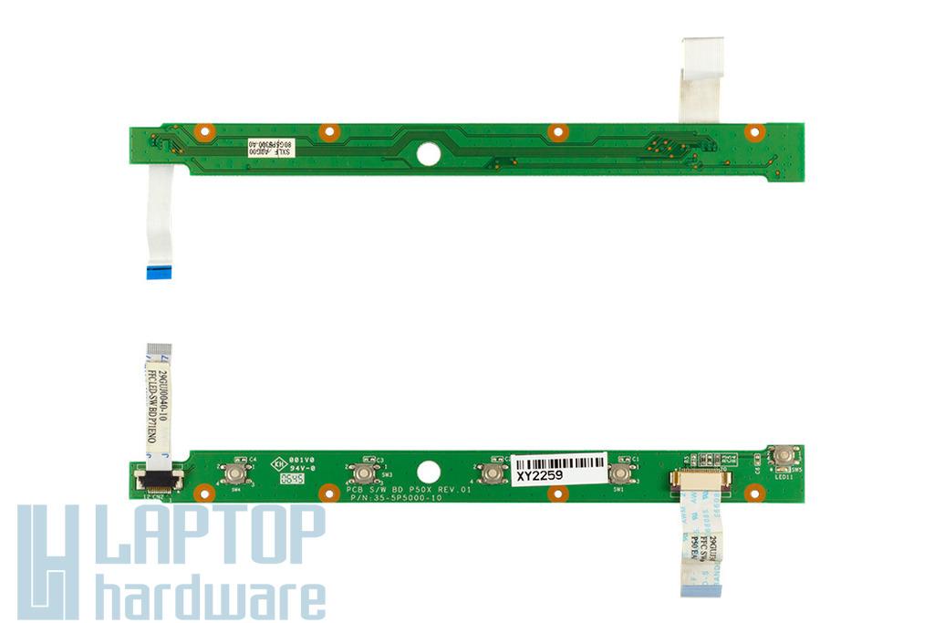 Fujitsu-Siemens Amilo Pi1536 bekapcsoló panel, kábellel 80G5P5300-10