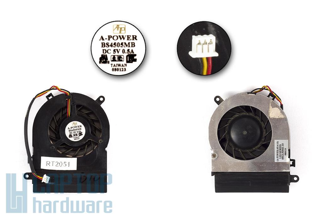 Fujitsu-Siemens Amilo Pi2512, 2515 használt laptop hűtő ventilátor (40GL53041-00)
