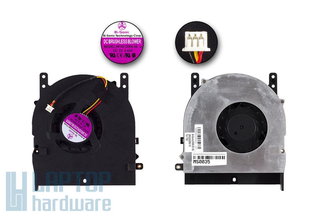 Fujitsu-Siemens Amilo Pi3525, Pi3540 gyári új laptop hűtő ventilátor (HP551205H-50)