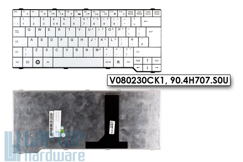 Fujitsu-Siemens Amilo Pi3540, Esprimo Mobile V6505, X9510 gyári új UK angol fehér laptop billentyűzet (90.4H707.S0U)