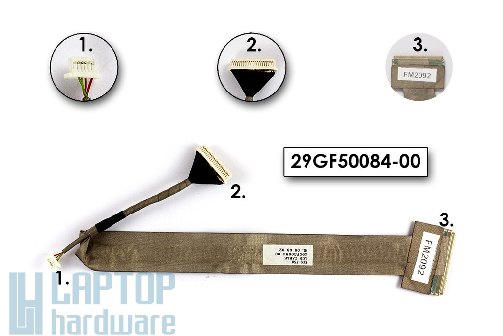 Fujitsu-Siemens Amilo Pi3525, Pi3540 laptophoz gyári új LCD kijelző kábel (29GF50084-00)