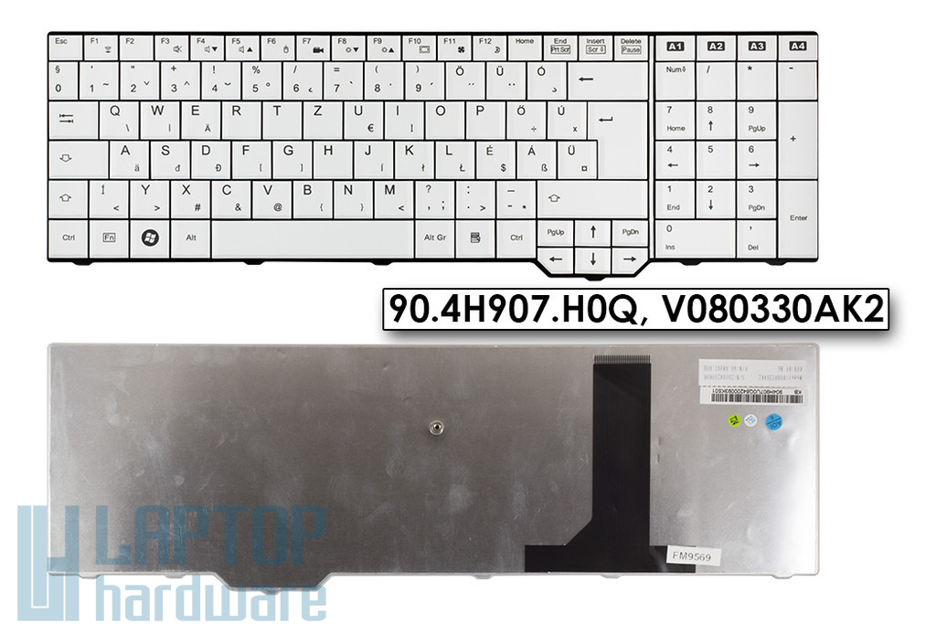 Fujitsu-Siemens Amilo PI3625, XA3530, Xi3650 magyar laptop billentyűzet, 90.4H907.H0Q, V080330AK2