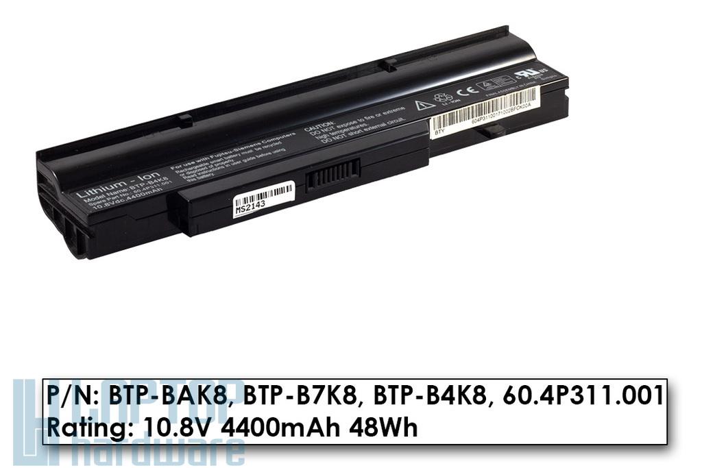 Fujitsu-Siemens Amilo V3505, Li1718 használt, 70%-os 6 cellás laptop akku/akkumulátor (BTP-B4K8)