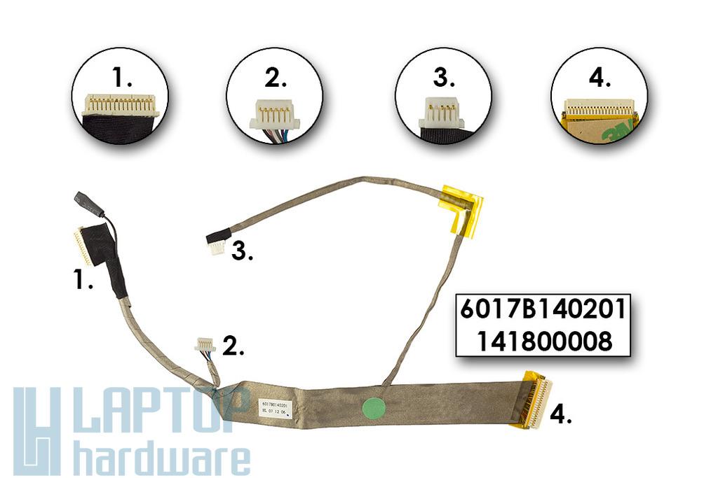 Fujitsu-Siemens Esprimo U9200 gyári új laptop LCD kábel, 6017B140201