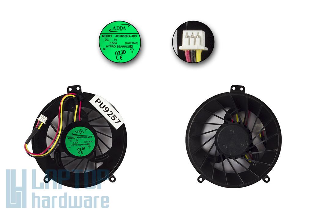 Fujitsu-Siemens LifeBook A530, AH530 gyári új laptop hűtő ventilátor (AD5605HX-JD3)