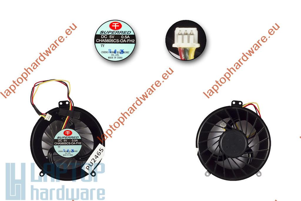 Fujitsu-Siemens LifeBook A530, AH530 gyári új laptop hűtő ventilátor (CHA5605CS-OA-FH2)