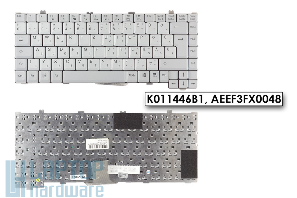 Fujitsu-Siemens LifeBook C1010, C1020 gyári új magyar szürke laptop billentyűzet (K011446B1)