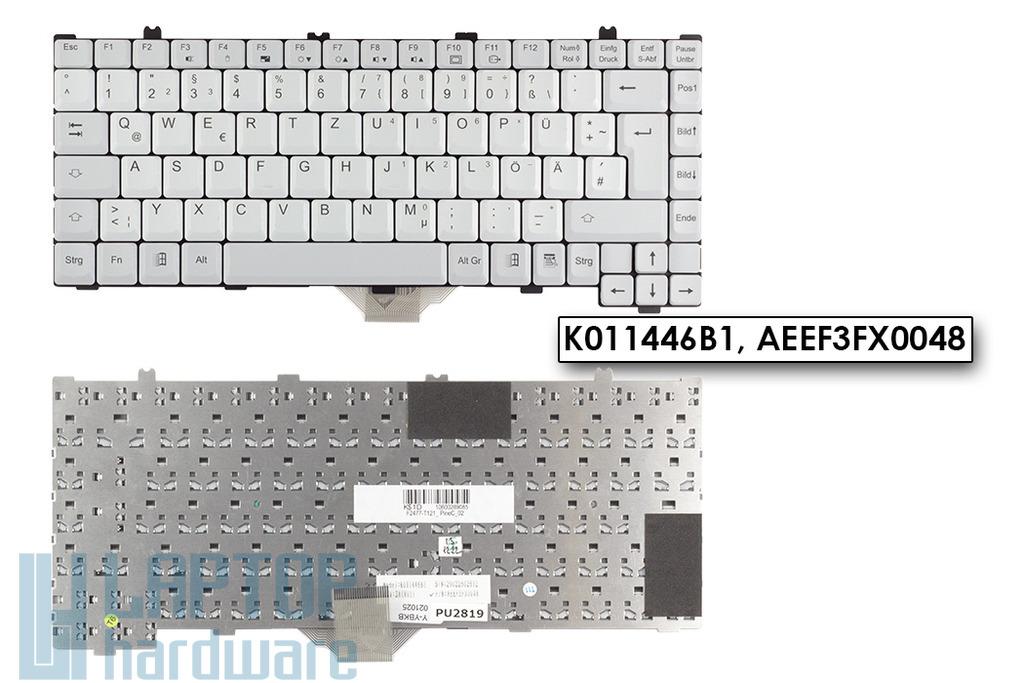 Fujitsu-Siemens LifeBook C1010, C1020 gyári új német szürke laptop billentyűzet (K011446B1)