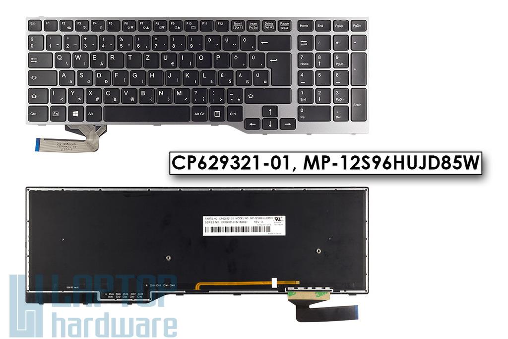 Fujitsu-Siemens LifeBook E753, E754 gyári új fekete háttérvilágításos magyar laptop billentyűzet CP629321-01