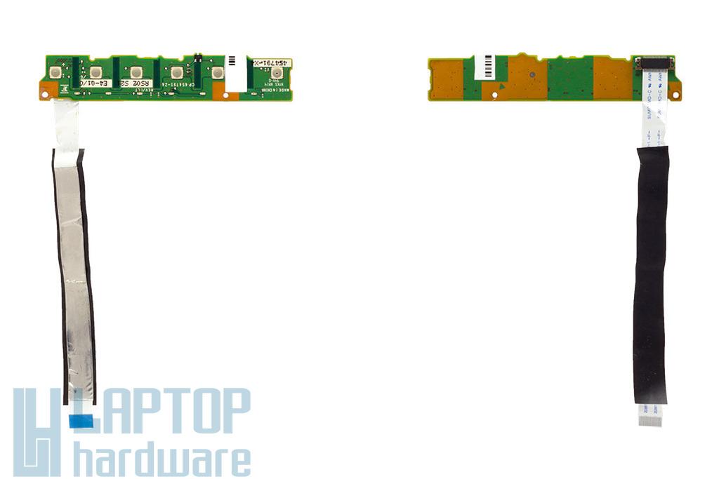 Fujitsu-Siemens LifeBook E780 laptophoz használt bekapcsoló gomb panel (CP454791-Z4)