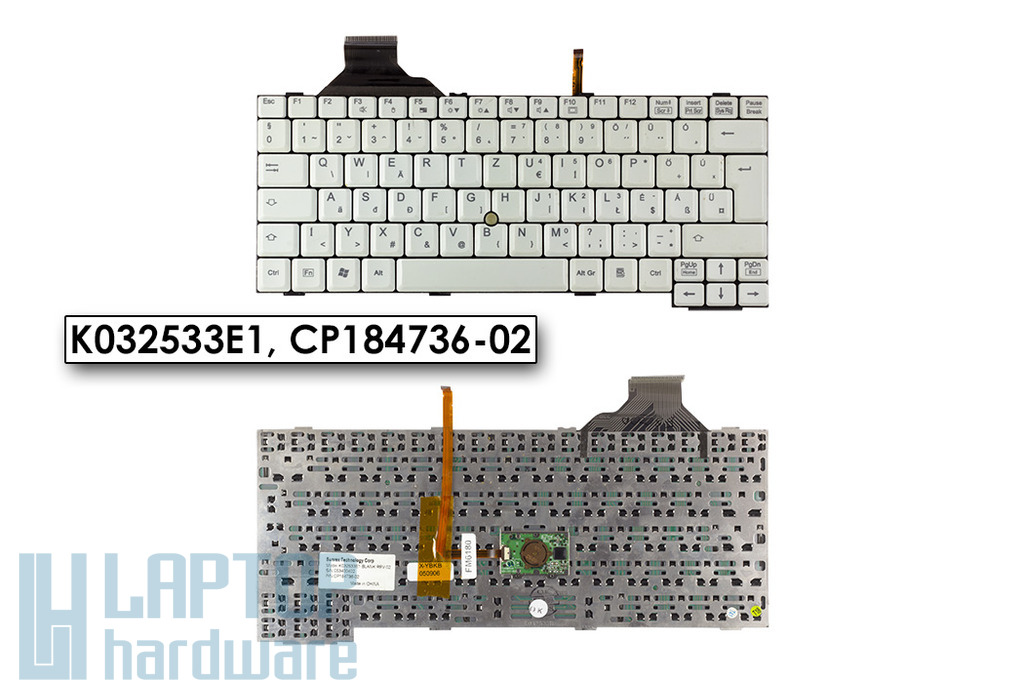 Fujitsu-Siemens LifeBook E8020, E8020D használt magyar laptop billentyűzet, K032533E1, CP184736-02