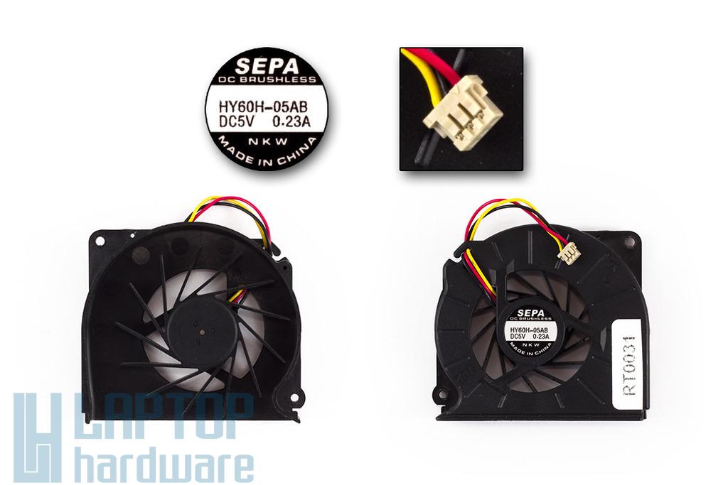 Fujitsu-Siemens LifeBook E8410, S2210, V1010 használt laptop hűtő ventilátor (HY60H-05AB)