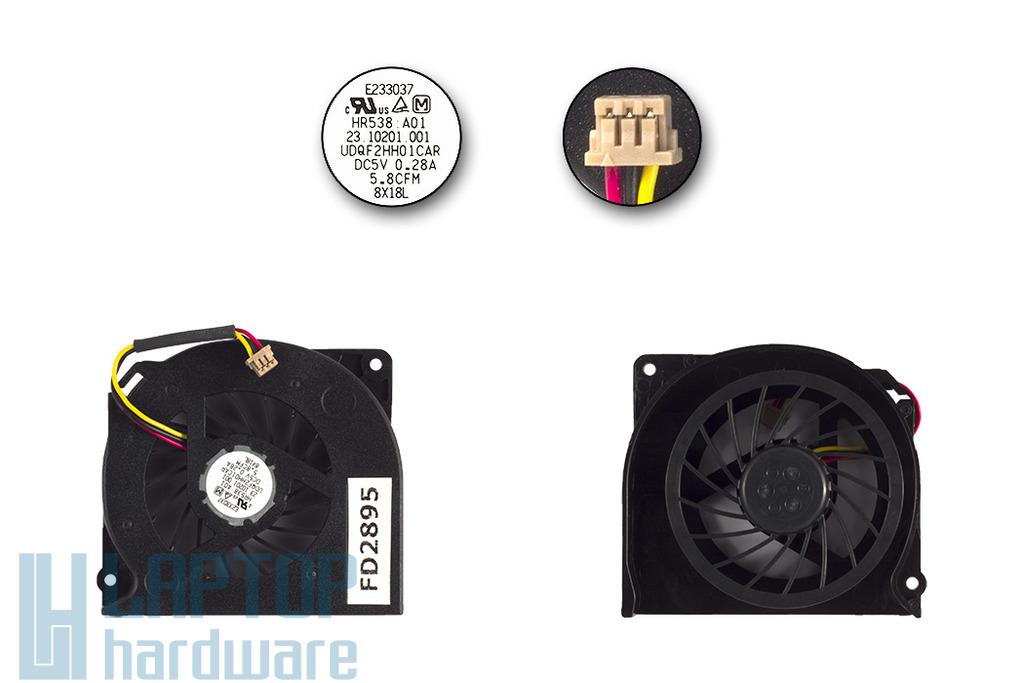 Fujitsu-Siemens LifeBook E8410, S2210, V1010 laptop hűtő ventilátor (23.10201.001)